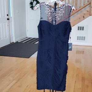 BHLDN beaded dress by Adrianna Papell size 4